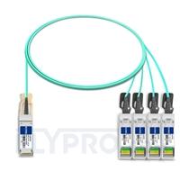 Picture of 2m (7ft) H3C QSFP-4X10G-D-AOC-2M Compatible 40G QSFP+ to 4x10G SFP+ Breakout Active Optical Cable