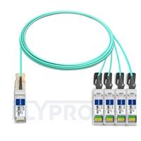 Picture of 5m (16ft) H3C QSFP-4X10G-D-AOC-5M Compatible 40G QSFP+ to 4x10G SFP+ Breakout Active Optical Cable