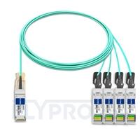 Picture of 7m (23ft) H3C QSFP-4X10G-D-AOC-7M Compatible 40G QSFP+ to 4x10G SFP+ Breakout Active Optical Cable