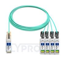 Picture of 15m (49ft) H3C QSFP-4X10G-D-AOC-15M Compatible 40G QSFP+ to 4x10G SFP+ Breakout Active Optical Cable