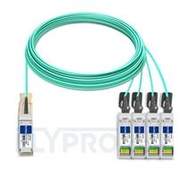Picture of 30m (98ft) H3C QSFP-4X10G-D-AOC-30M Compatible 40G QSFP+ to 4x10G SFP+ Breakout Active Optical Cable