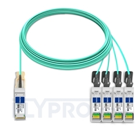Picture of 20m (66ft) Juniper Networks JNP-QSFP-AOCBO-20M Compatible 40G QSFP+ to 4x10G SFP+ Breakout Active Optical Cable