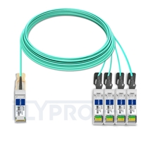 Picture of 25m (82ft) Juniper Networks JNP-QSFP-AOCBO-25M Compatible 40G QSFP+ to 4x10G SFP+ Breakout Active Optical Cable