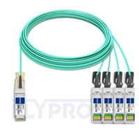 Picture of 30m (98ft) Juniper Networks JNP-QSFP-AOCBO-30M Compatible 40G QSFP+ to 4x10G SFP+ Breakout Active Optical Cable