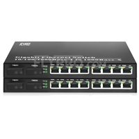 صورة 8x 10/100/1000Base-T RJ45~2x 1000Base-X SFP Rainure SC Unmanaged Gigabit Ethernet Media Converter, Simplex, 1310nm/1550nm, 20km