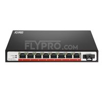 Bild von 8x 10/100Base-T RJ45 ~ 1x 100Base-X SFP Rainure SC Unmanaged PoE Switch,Single Fiber, 1310nm/1550nm 20km