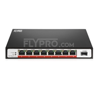 Picture of 8x 10/100/1000Base-T RJ45 ~ 1x 1000Base-X SFP Unmanaged PoE Switch