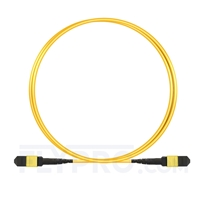 Picture of 1m (3ft) MTP-MTP Patch Cable Female 12 Fibers Type B Plenum (OFNP) OS2 9/125 Single Mode Elite, Yellow