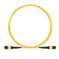 Picture of 3m (10ft) MTP-MTP Patch Cable Female 12 Fibers Type B Plenum (OFNP) OS2 9/125 Single Mode Elite, Yellow