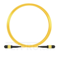 Picture of 10m (33ft) MTP-MTP Patch Cable Female 12 Fibers Type A Plenum (LSZH) OS2 9/125 Single Mode Elite, Yellow