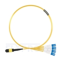 Picture of 1m (3ft) MTP Female to 4 LC UPC Duplex 8 Fibers Type B Plenum (OFNP) OS2 9/125 Single Mode Elite Breakout Cable, Yellow
