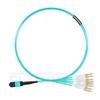 Picture of 1m (3ft) MTP Female to 4 LC UPC Duplex 8 Fibers Type B Plenum (OFNP) OM3 50/125 Multimode Elite Breakout Cable, Aqua