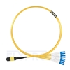 Picture of 3m (10ft) MTP Female to 4 LC UPC Duplex 8 Fibers Type B Plenum (OFNP) OS2 9/125 Single Mode Elite Breakout Cable, Yellow
