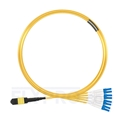 Picture of 5m (16ft) MTP Female to 4 LC UPC Duplex 8 Fibers Type B Plenum (OFNP) OS2 9/125 Single Mode Elite Breakout Cable, Yellow