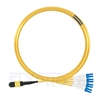 Picture of 10m (33ft) MTP Female to 4 LC UPC Duplex 8 Fibers Type B Plenum (OFNP) OS2 9/125 Single Mode Elite Breakout Cable, Yellow