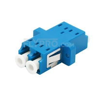 Picture of LC/UPC to LC/UPC Duplex Single Mode SC Footprint Plastic Fiber Optic Adapter/Mating Sleeve with Flange