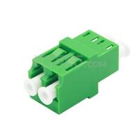 Bild von LC/APC auf LC/APC Duplex Singlemode LWL-Adapter/Führungshülse ohne Flansch