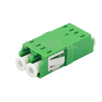 Picture of LC/APC to LC/APC Duplex Single Mode SC Footprint Plastic Fiber Optic Adapter/Mating Sleeve without Flange