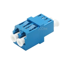 Picture of LC/UPC to LC/UPC Duplex Single Mode Fiber Optic Adapter/Mating Sleeve without Flange