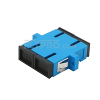 Picture of SC/UPC to SC/UPC Duplex Single Mode Plastic Fiber Optic Adapter/Mating Sleeve with Flange