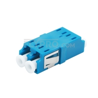 Picture of LC/UPC to LC/UPC Duplex Single Mode SC Footprint Plastic Fiber Optic Adapter/Mating Sleeve without Flange