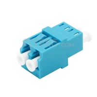 Picture of LC/UPC to LC/UPC Duplex OM3/OM4 Multimode Fiber Optic Adapter/Mating Sleeve without Flange