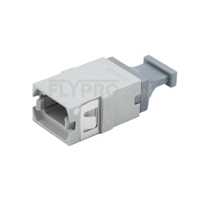 Picture of MTP/MPO Grey Fiber Optic Adapter/Mating Sleeve without Flange, Aligned Key, Up to Up