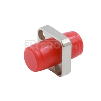 Picture of FC/UPC to FC/UPC Simplex Single Mode/Multimode Square Solid Type One piece Metal Fiber Optic Adapter/Mating Sleeve with Flange