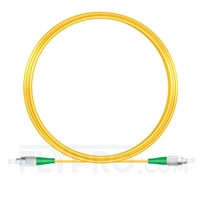 Picture of 10M(33ft)1550nm FC APC Simplex Slow Axis Single Mode PVC-3.0mm (OFNR) 3.0mm Polarization Maintaining Fiber Optic Patch Cable
