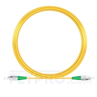 Picture of 15M(49ft)1310nm FC APC Simplex Slow Axis Single Mode PVC-3.0mm (OFNR) 3.0mm Polarization Maintaining Fiber Optic Patch Cable