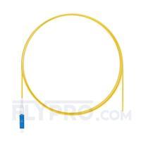 Picture of 1m (3ft) LC UPC Simplex OS2 Single Mode PVC (OFNR) 0.9mm Fiber Optic Pigtail