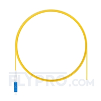 Picture of 2m (7ft) LC UPC Simplex OS2 Single Mode PVC (OFNR) 0.9mm Fiber Optic Pigtail
