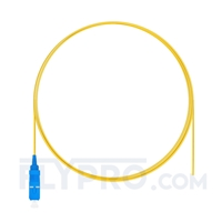 Picture of 1m (3ft) SC UPC Simplex OS2 Single Mode PVC (OFNR) 0.9mm Fiber Optic Pigtail