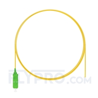 Picture of 1m (3ft) SC APC Simplex OS2 Single Mode PVC (OFNR) 0.9mm Fiber Optic Pigtail