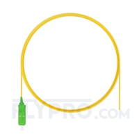 Picture of 2m (7ft) SC APC Simplex OS2 Single Mode PVC (OFNR) 0.9mm Fiber Optic Pigtail