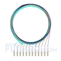 Picture of 1.5m (5ft) LC UPC 12 Fibers OM4 Multimode Bunch PVC (OFNR) 0.9mm Fiber Optic Pigtail