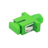 Picture of FC/APC to SC/APC Hybrid Simplex Single Mode Plastic Fiber Optic Adapter/Mating Sleeve, Female to Female