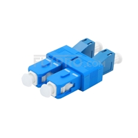 Picture of LC/UPC Female to SC/UPC Male Duplex Single Mode Plastic Fiber Optic Adapter/Mating Sleeve