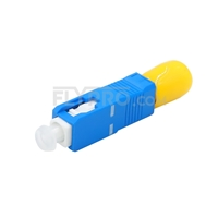 Picture of ST Female to SC Male Simplex Single Mode Fiber Optic Adapter/Mating Sleeve