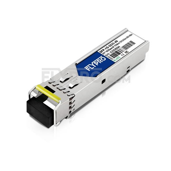 Picture of Zhone SFP-GE-BEX-1550-SLC Compatible 1000Base-BX SFP 1550nm-TX/1310nm-RX 40km SMF(LC Single) DOM Optical Transceiver