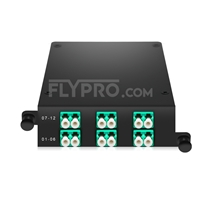 Picture of MPO-12 to 6x LC Duplex, Type A, 12 Fibers OM3 Multimode FHD MPO Cassette