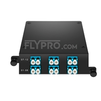 Picture of MPO-12 to 6x LC Duplex, Type A, 12 Fibers OS2 Single Mode FHD MPO Cassette